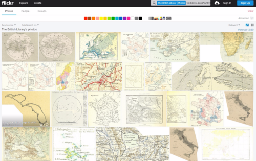 Georeferencer subject page (Flickr)