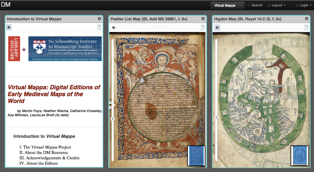The Virtual Mappa Project and DM: Online Editions of